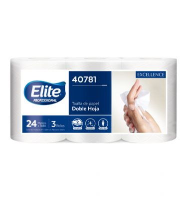 Higiene Personal 40781 elite toalla dh extra blanca 12x24 mts 375x400