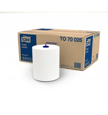 Higiene Personal TO70026 tork toalla jumbo hs 6x250 mts 375x400