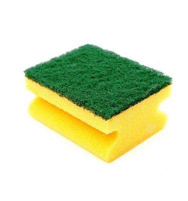 Accesorios Higiene esponja acanalada con fibra abrasiva 375x400