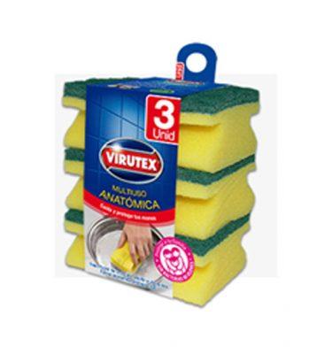 Accesorios Higiene virutex esponja acanalada 3 375x400